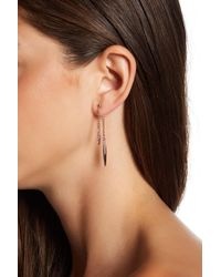 BCBGeneration - Crystal Detail Chain Drop Front & Back Earrings - Lyst