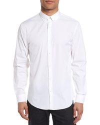 Calibrate - Trim Fit Stretch Woven Sport Shirt - Lyst