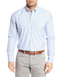Peter Millar - Crown Finish Regular Fit Check Sport Shirt - Lyst