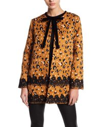 English Factory - Cheeky Leopard Tie Coat - Lyst