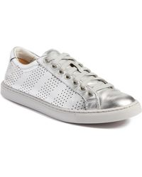 a87cdc34ded Treasure   Bond - Merrick Perforated Leather Sneaker - Lyst