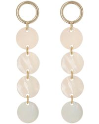 Argento Vivo - 18k Gold Plated Sterling Silver Mother-of-pearl Circle Drop Earrings - Lyst