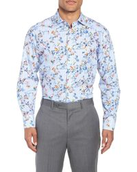 John W. Nordstrom - (r) Trim Fit Floral Dress Shirt - Lyst