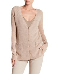 Spun By Subtle Luxury - Cashmere Hi-low Lounge Cardigan - Lyst