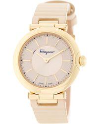 Ferragamo - Women's Symphonie Leather Strap Watch, 36mm - Lyst