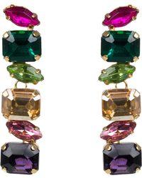 Jardin - Linear Glass Stone Earrings - Lyst