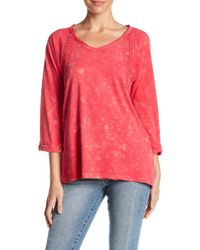 Casual Studio - Embroidered Swing Tee - Lyst