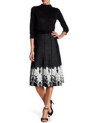 Lauren Hansen - Printed Knit Flared Skirt - Lyst