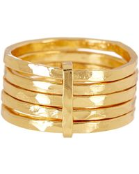 Argento Vivo - 18k Gold Plated Sterling Silver 5 Layer Ring - Size 8 - Lyst