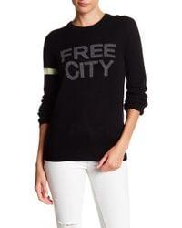 FREE CITY - Str8up Cashmere Crew Neck Sweater - Lyst
