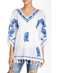 Boho Me - Embroidered Empire Kaftan - Lyst