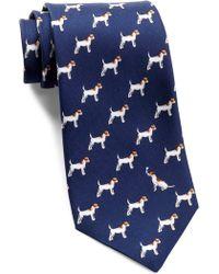 Thomas Pink - Terrier Print Silk Tie - Lyst