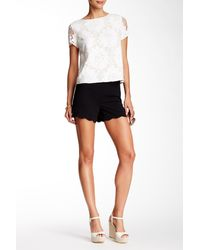Cece by Cynthia Steffe - Moss Crepe Scalloped Short - Lyst