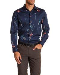 Perry Ellis - Botanical Print Stretch Poplin Shirt - Lyst