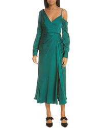 Alexander McQueen Asymmetric Dress - Green