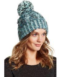 Modena - Cable Knit Yarn Pompom Hat - Lyst