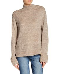 William Rast - Charlie Mock Neck Sweatshirt - Lyst