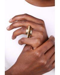 Soko - Contrast Statili Horn Ring Set - Size 8 - Lyst