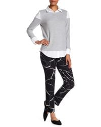 Vince Camuto - Ink Swirl Print Trousers - Lyst