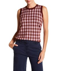 J.Crew | Gin Checked Cashmere Tank | Lyst