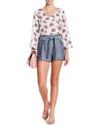 Skies Are Blue - Chambray Ribbon Short - Lyst