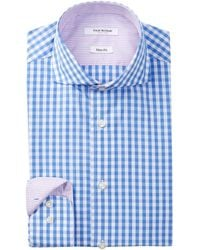 Isaac Mizrahi New York - Long Sleeve Slim Fit Medium Check Dress Shirt - Lyst