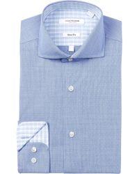 Isaac Mizrahi New York - Dot Gingham Slim Fit Dress Shirt - Lyst