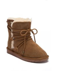 Minnetonka - Whitehall Genuine Shearling Lined Wrap Boot - Lyst
