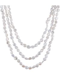 "Splendid - Endless 72"" 5-6mm Freshwater Keshi Pearl Necklace - Lyst"