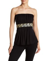 Sky - Amyas Embellished Strapless Top - Lyst