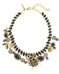 Oscar de la Renta - Swarovski Accent Wildlife Necklace - Lyst