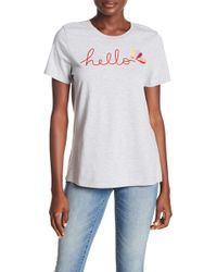 Sundry - Hello Embroidered Boy Tee - Lyst