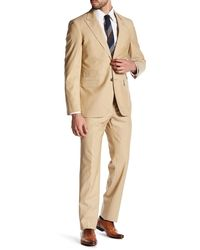Strong Suit - Cutlass Tan Two Button Peaked Lapel Wool Trim Fit Suit - Lyst