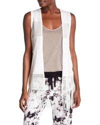 Pj Salvage | Fringed Open Front Vest | Lyst