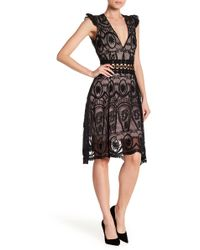 Haute Rogue - Cutout Lace Dress - Lyst
