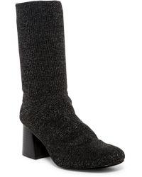 Cape Robbin - Daisy Metallic Knit Bootie - Lyst