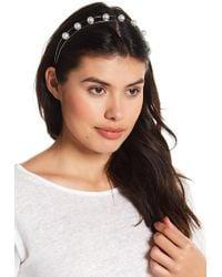 Cara - Floral & Pearl Detail Headband - Lyst