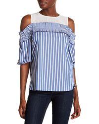 Cece by Cynthia Steffe - Cold Shoulder Chiffon Shirt - Lyst