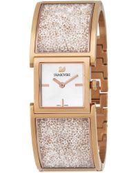 Swarovski - Women's Rose Gold Crystalline Swiss Quartz Watch - Lyst