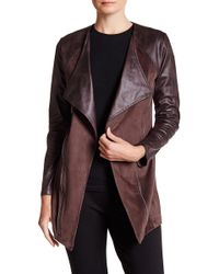 Insight - Faux Leather & Faux Suede Jacket - Lyst