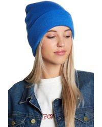 Berry - Solid Neon Blue Beanie - Lyst