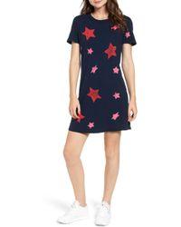 79d2ec2877 Current Elliott - Woman The Beatnik Printed Cotton-jersey Mini Dress Navy -  Lyst