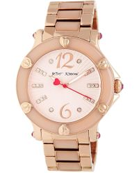 Betsey Johnson - Textured Dial Epoxy Link Bracelet Watch, 41mm - Lyst