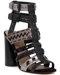 Donald J Pliner - Bindy Leather Heel Sandal - Lyst