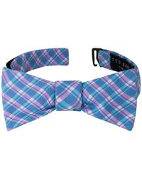Ted Baker - Plaid Cotton & Silk Bow Tie - Lyst