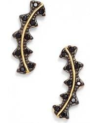 Freida Rothman - Harlequin Edge Linear Stud Earrings - Lyst