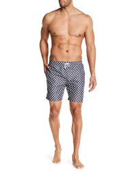 Franks - Polka Dot Print Mid Length Swim Trunks - Lyst