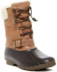 Sperry Top-Sider - Saltwater Misty Genuine Shearling Lined Duck Boot - Lyst