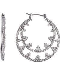 Jenny Packham - Crystal Pave Hoop Earrings - Lyst