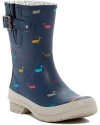 1d7eea8df737 Chooka - Classic Whale Print Waterproof Mid Rain Boot - Lyst